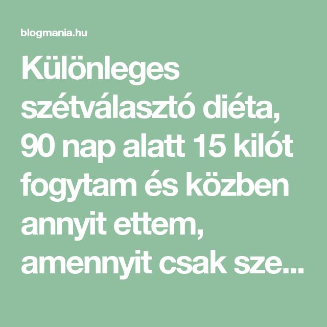 10 nap alatt annyit fogyjon)