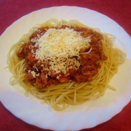 fogyás spagetti bolognai