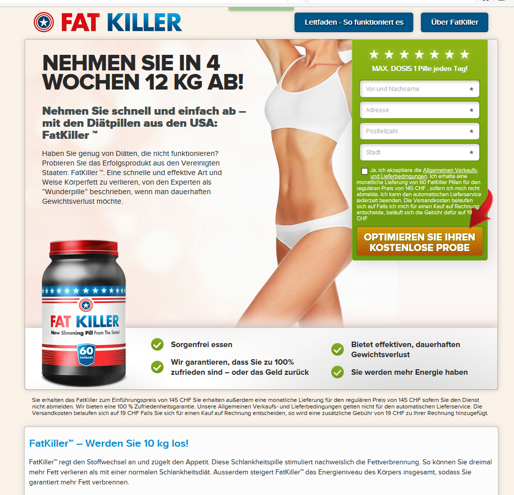 fatkiller bestellen schweiz)