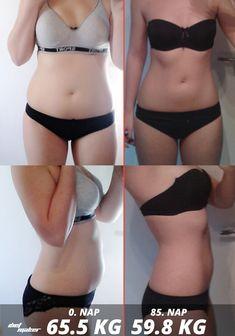 8 kg súlycsökkenés előtte és utána