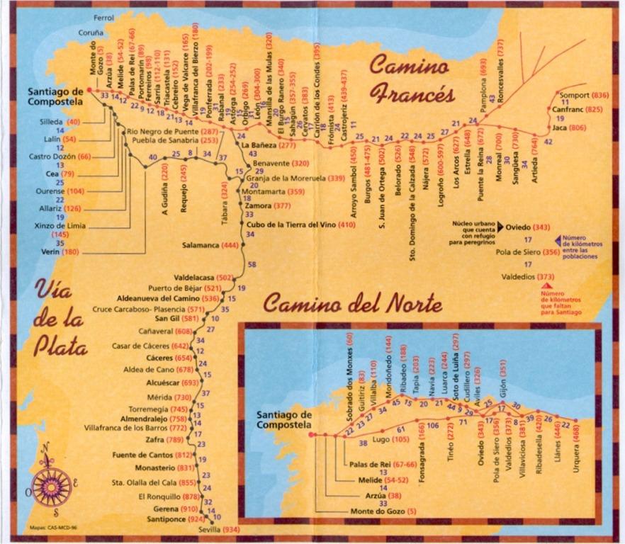 fogyás az el camino de santiago-on)
