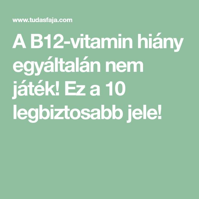b12 hiány zsírvesztés