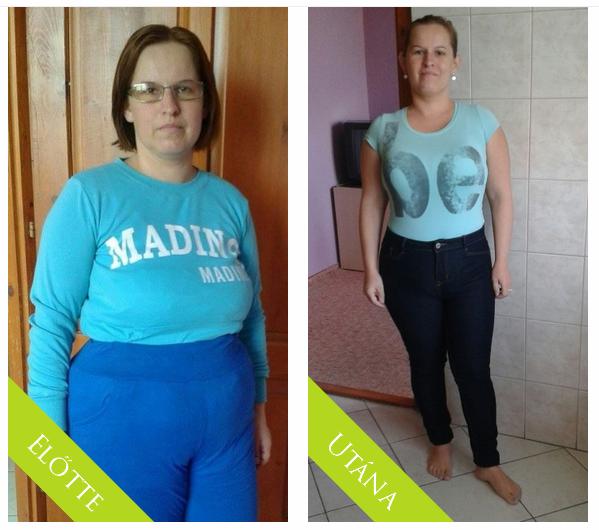 4 hónapos fogyás előtte és utána