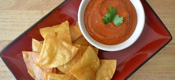 fogyókúrás chips és salsa
